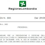 CORONAVIRUS – REGIONE LOMBARDIA ORDINANZA 555 Manutenzione  del verde